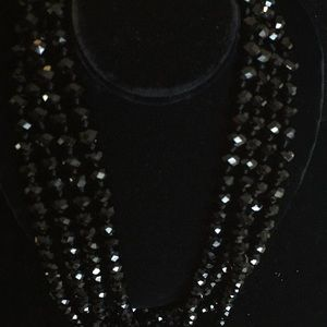 "Jewelry - Gorgeous 80"" crystal necklace"